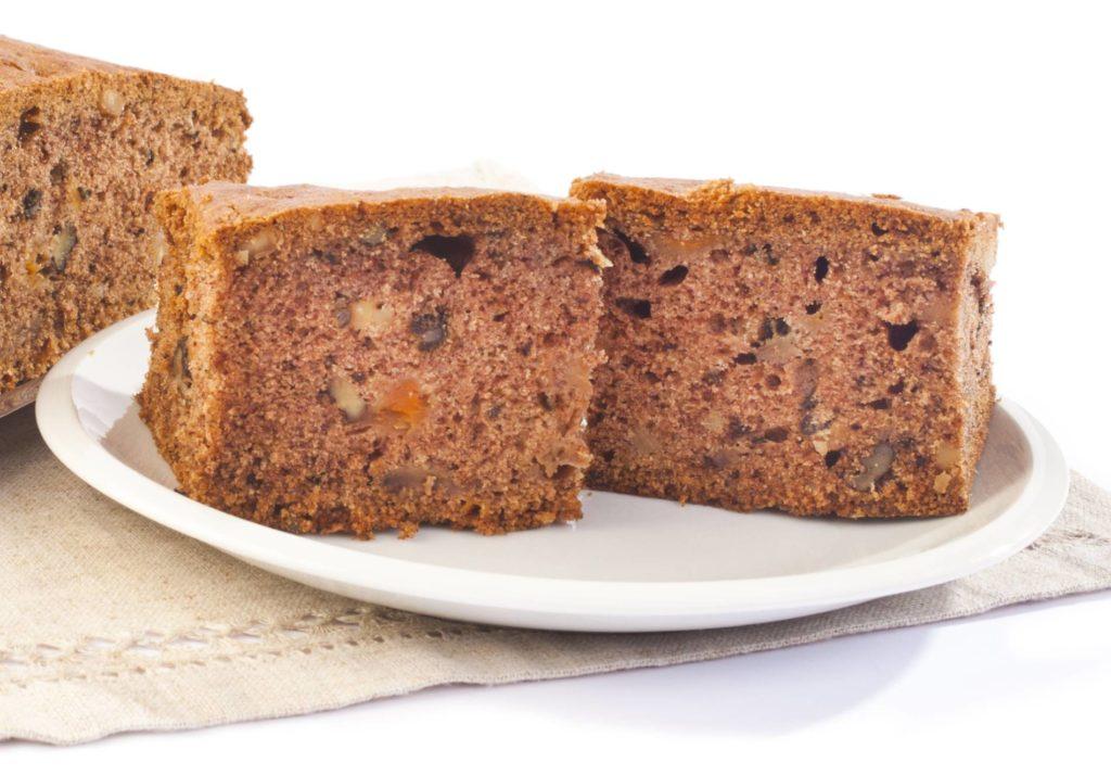 Ciasto pieczone z kawałkami dyni i bakaliami